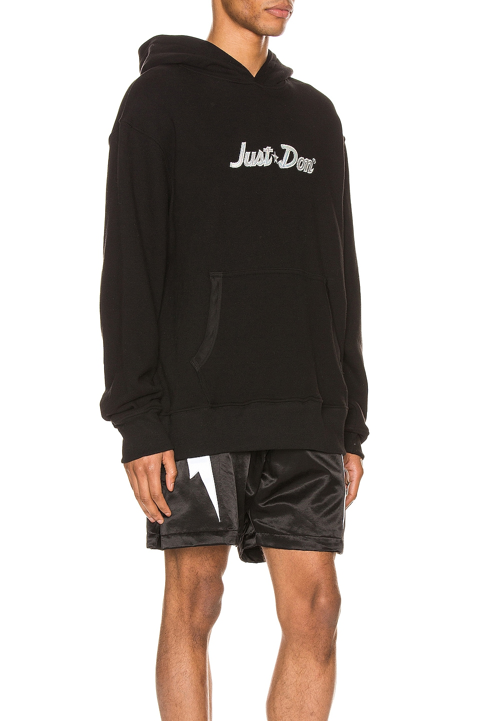 Image 2 of Just Don Team X Planet Hoodie in Black