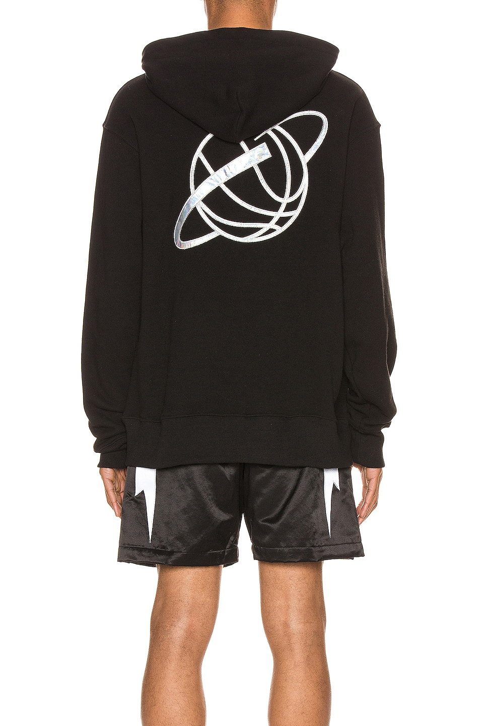 Image 3 of Just Don Team X Planet Hoodie in Black