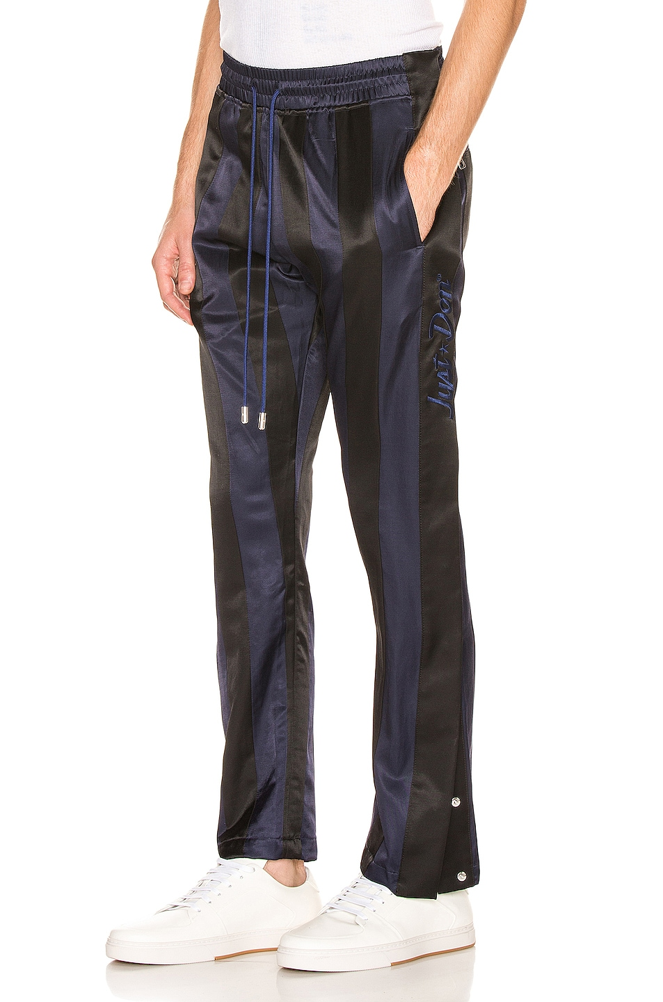 Image 1 of Just Don Paneled Tearaway Pants in Black