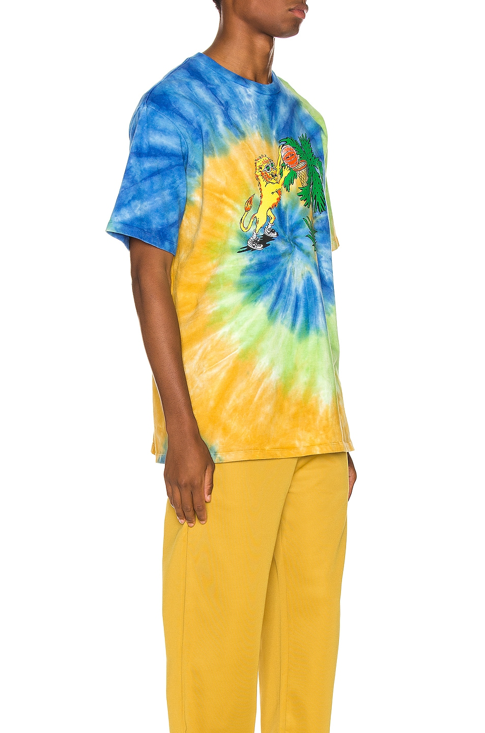 Image 3 of Just Don Lion Basketball Tee in Tie Dye
