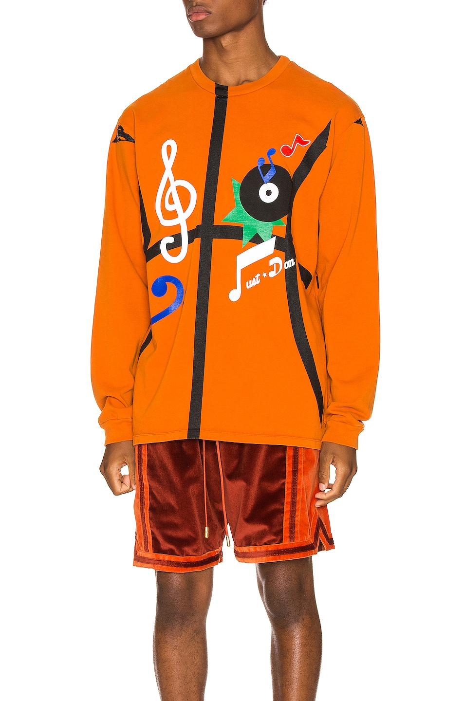 Image 1 of Just Don The Sound Long Sleeve in Orange