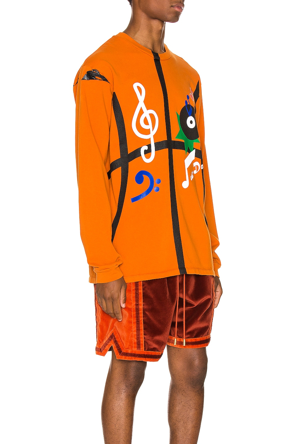 Image 2 of Just Don The Sound Long Sleeve in Orange