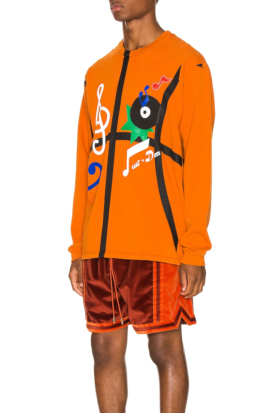 Image 3 of Just Don The Sound Long Sleeve in Orange