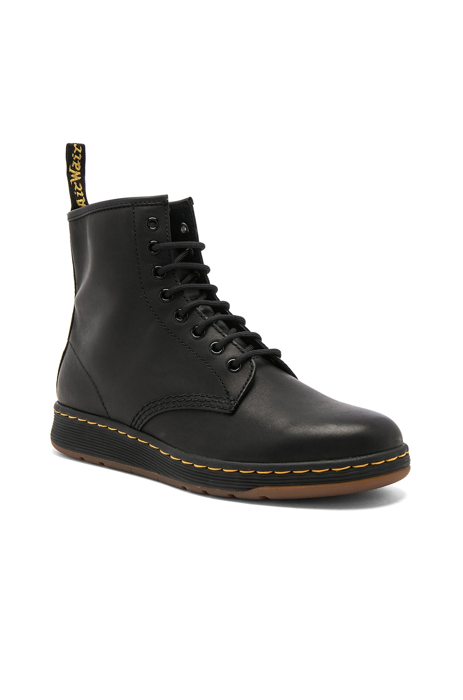 Image 1 of Dr. Martens Newton 8 Eye Leather Boots in Black