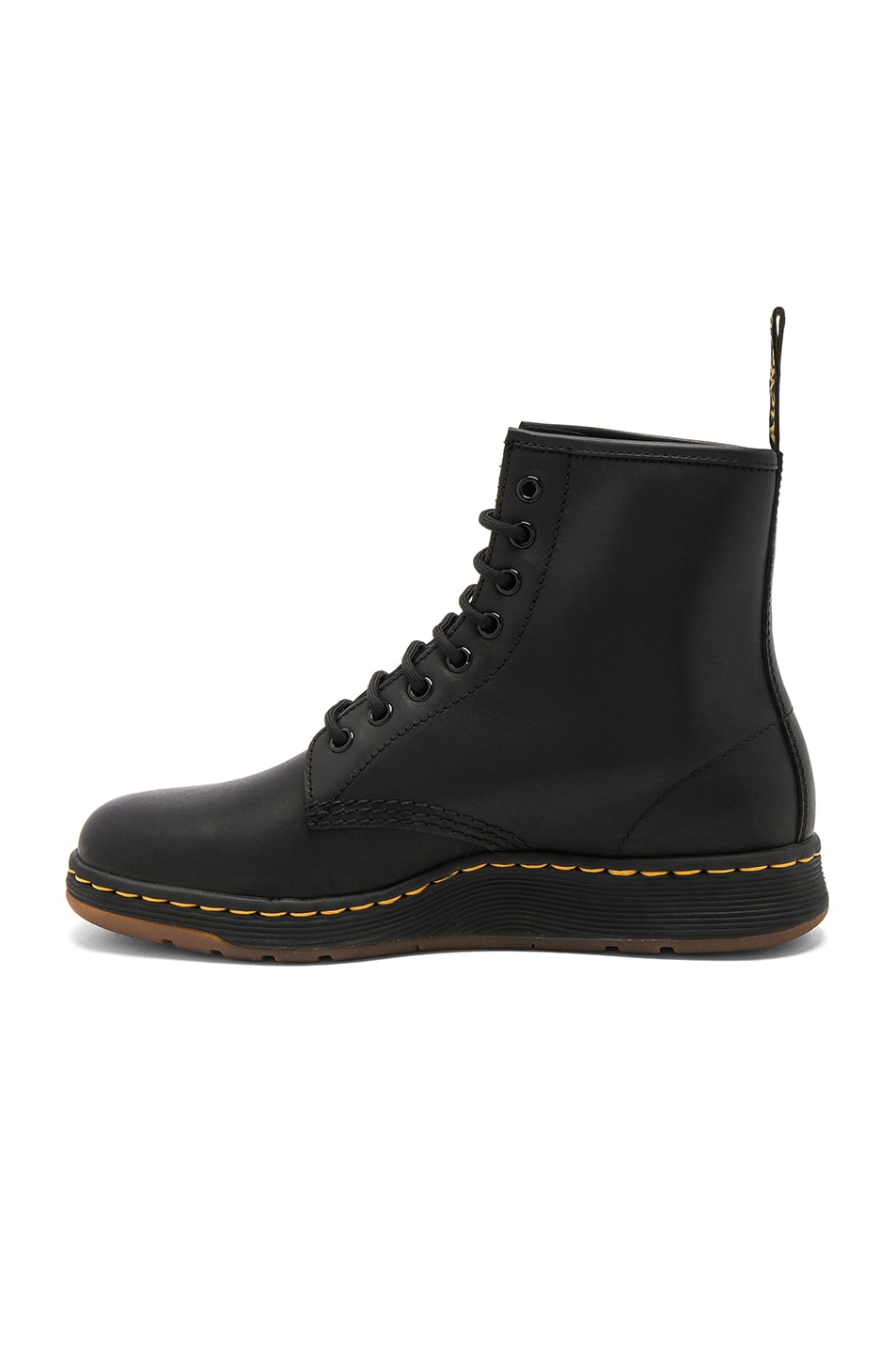Image 5 of Dr. Martens Newton 8 Eye Leather Boots in Black