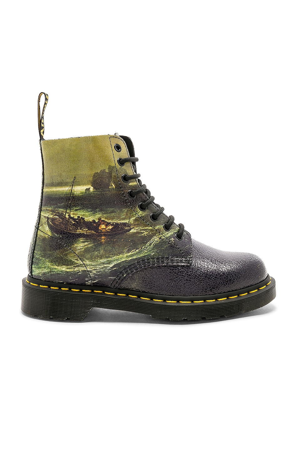 Dr. Martens  DR. MARTENS X TATE BRITAIN CRISTAL BOOTS IN GREEN