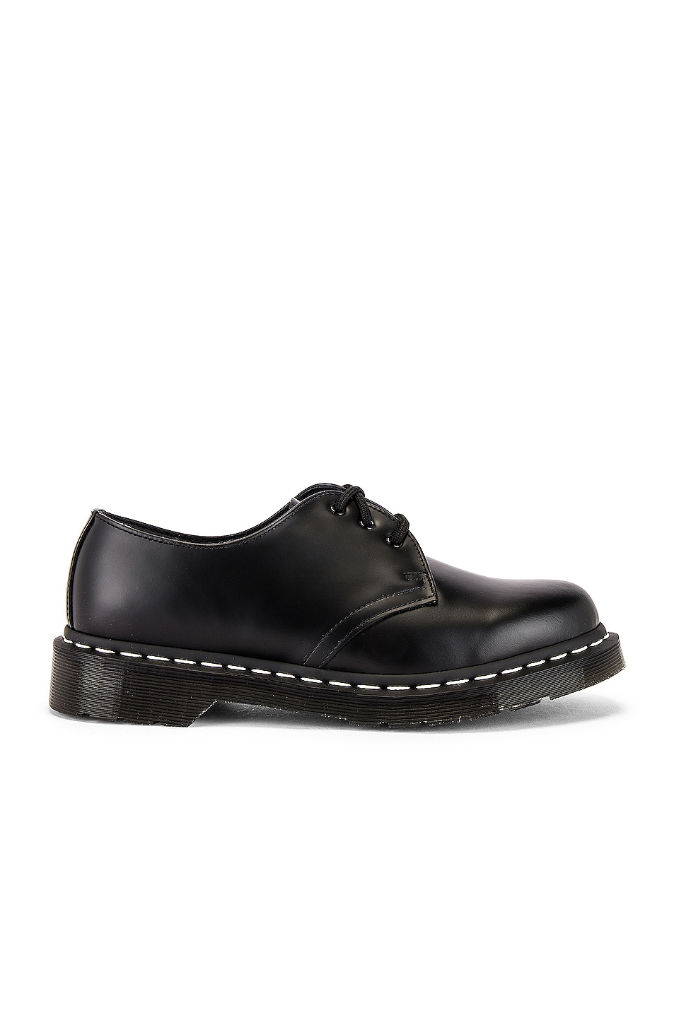 Image 1 of Dr. Martens 1461 White Stitch Shoe in Black