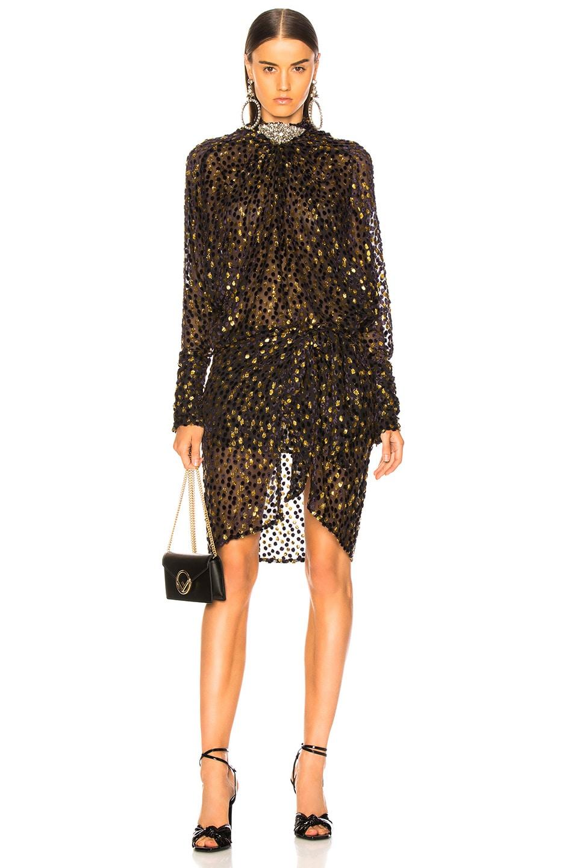 Image 1 of Dodo Bar Or Ida Dress in Purple & Gold