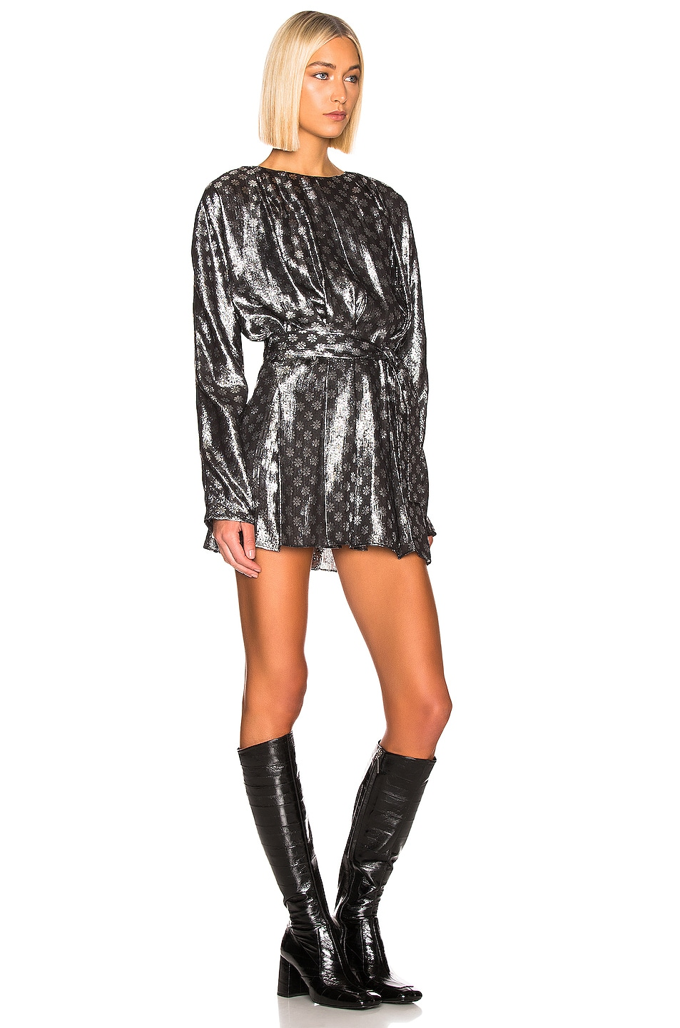 Image 2 of Dodo Bar Or Mika Lurex Dress in Silver