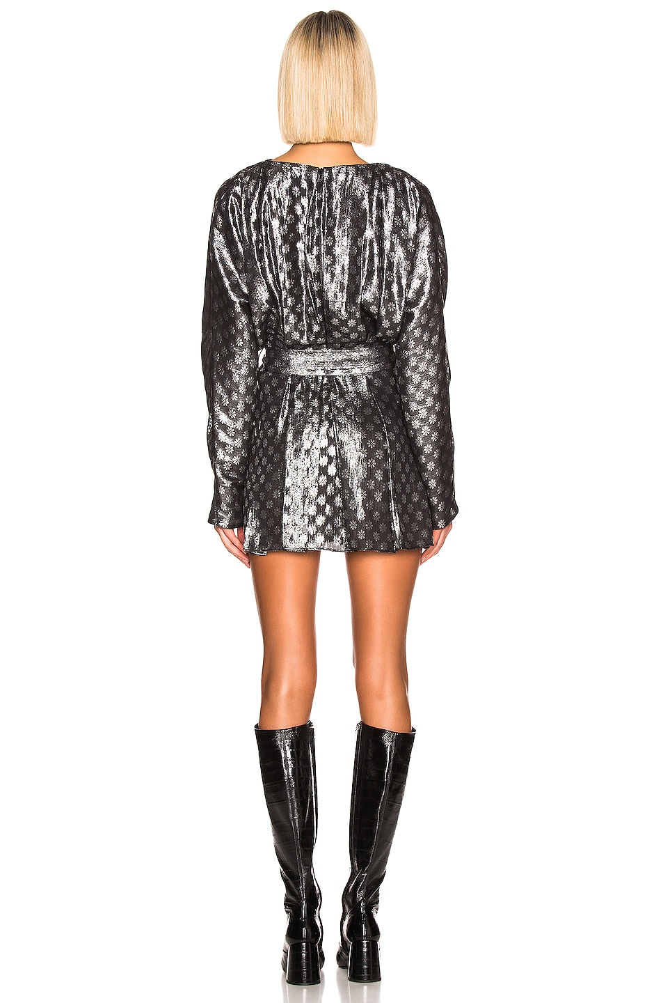 Image 3 of Dodo Bar Or Mika Lurex Dress in Silver