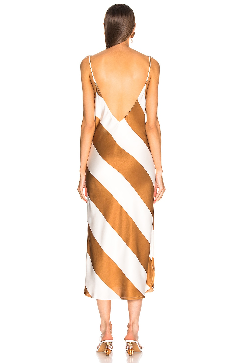 Image 3 of Dodo Bar Or Aline Dress in Camel & White Stripe