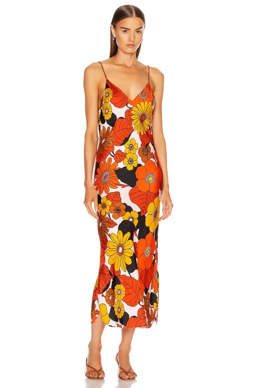 Image 1 of Dodo Bar Or Corinna Dress in Orange & Brown Floral