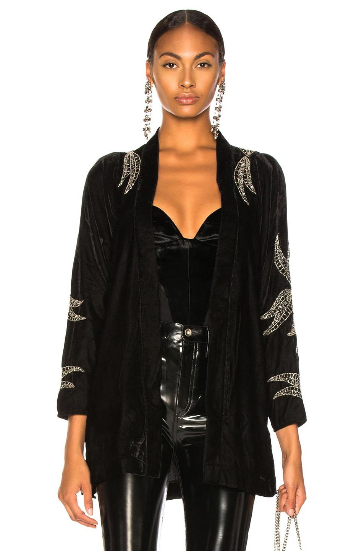Dodo Bar Or Ida Dress.Dodo Bar Or Corrine Kimono In Black Velvet Fwrd