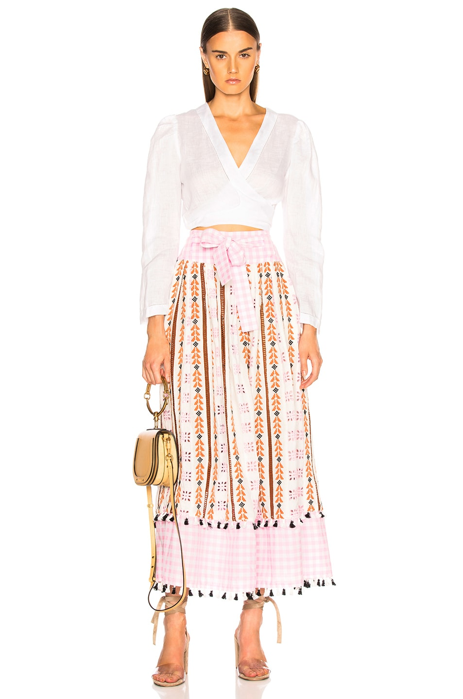Image 4 of Dodo Bar Or Antonela Skirt in Pink Colorful