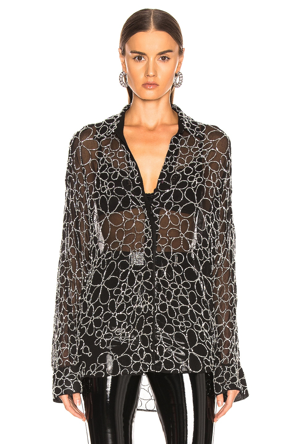 Image 2 of Dodo Bar Or Neomie Embroidered Top in Black