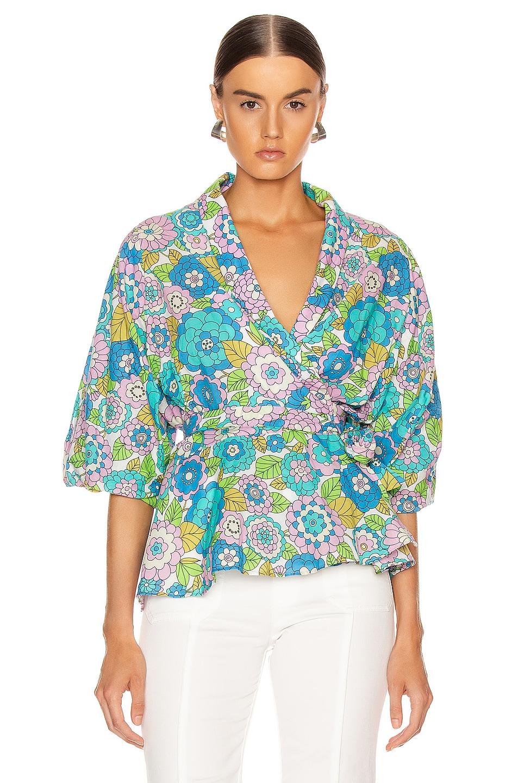 Image 1 of Dodo Bar Or Dar Shirt in Flower 3 Blue
