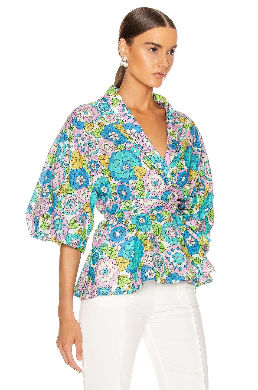 Image 2 of Dodo Bar Or Dar Shirt in Flower 3 Blue