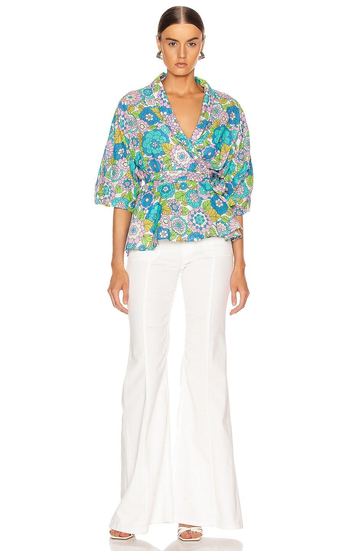 Image 4 of Dodo Bar Or Dar Shirt in Flower 3 Blue