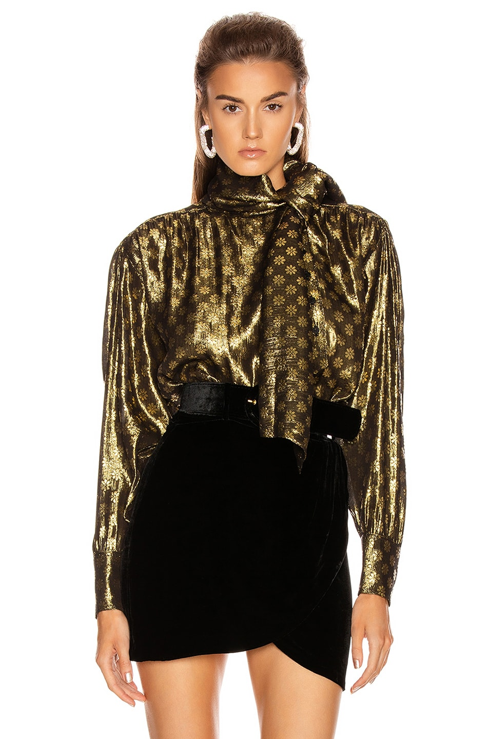 Image 1 of Dodo Bar Or Kelly Lurex Top in Gold