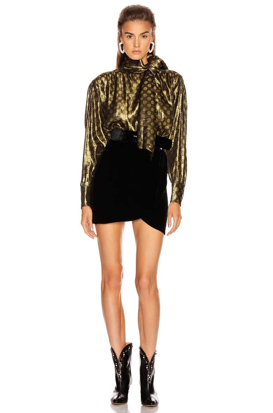 Image 4 of Dodo Bar Or Kelly Lurex Top in Gold