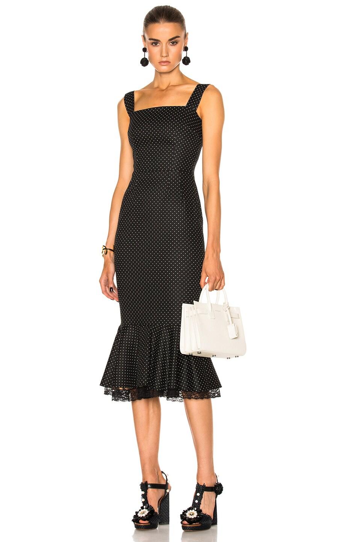 Image 1 of Dolce & Gabbana Sleeveless Midi Dress in Black