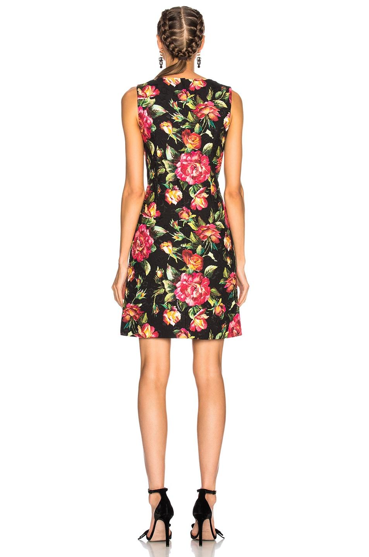 Image 3 of Dolce & Gabbana Floral Sleeveless Mini Dress in Black Multicolor