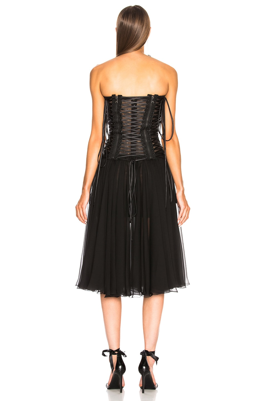 Image 3 of Dolce & Gabbana Corset Tank Dress in Black