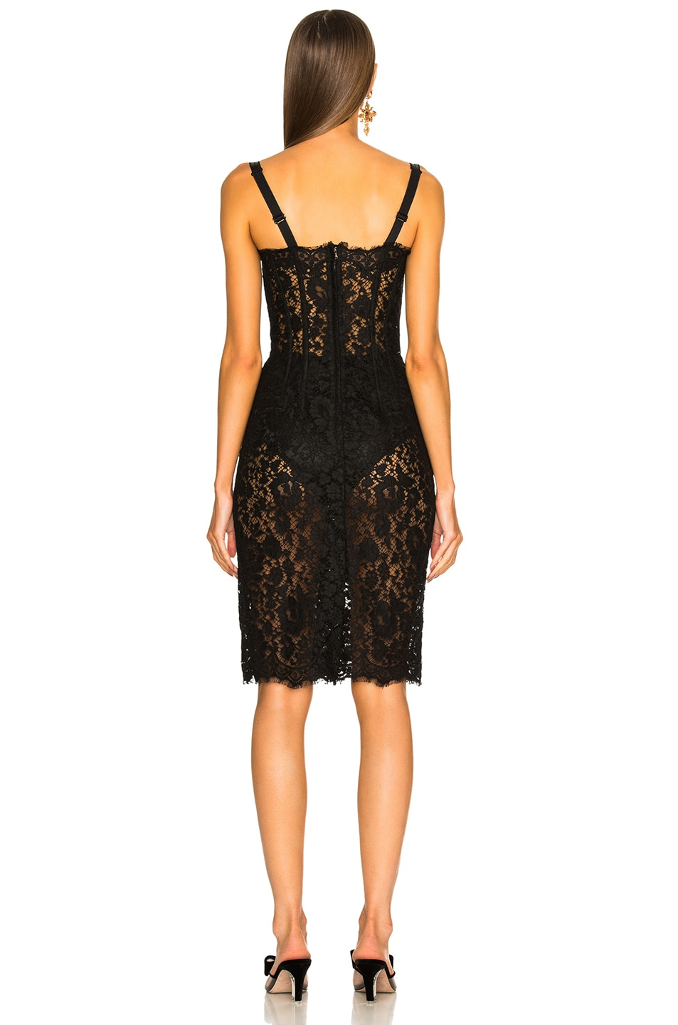 Image 3 of Dolce & Gabbana Lace Bustier Dress in Black