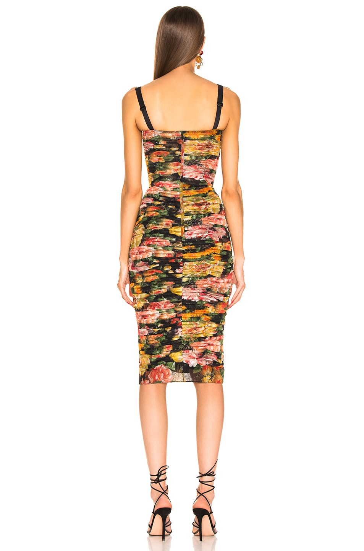 Image 3 of Dolce & Gabbana Multi Floral Print Tulle Tubino Dress in Multi