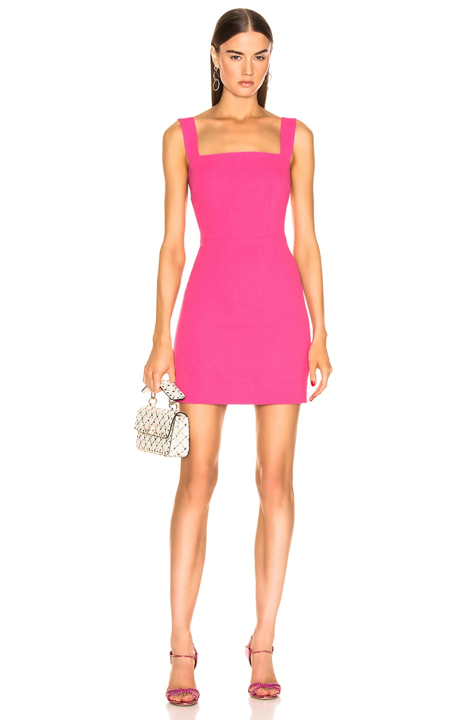 Image 1 of Dolce & Gabbana Cady Sleeveless Dress in Pink