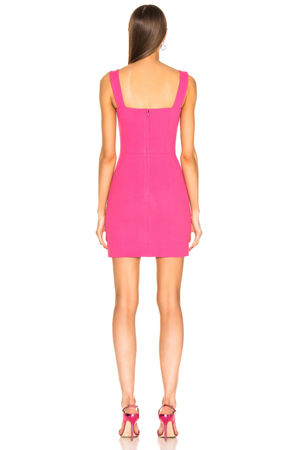 Image 3 of Dolce & Gabbana Cady Sleeveless Dress in Pink