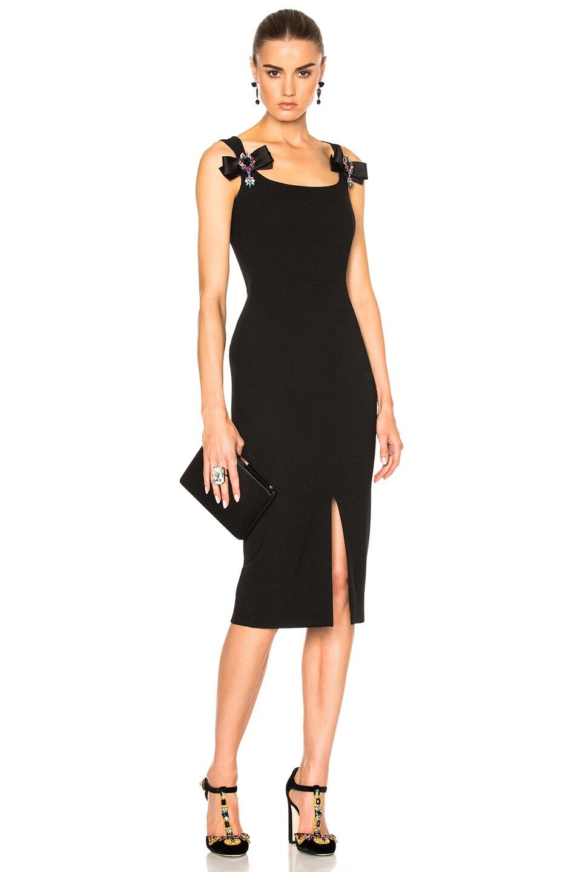 43513f8d986 Image 1 of Dolce   Gabbana Crepe Stretch Jewel Dress in Black