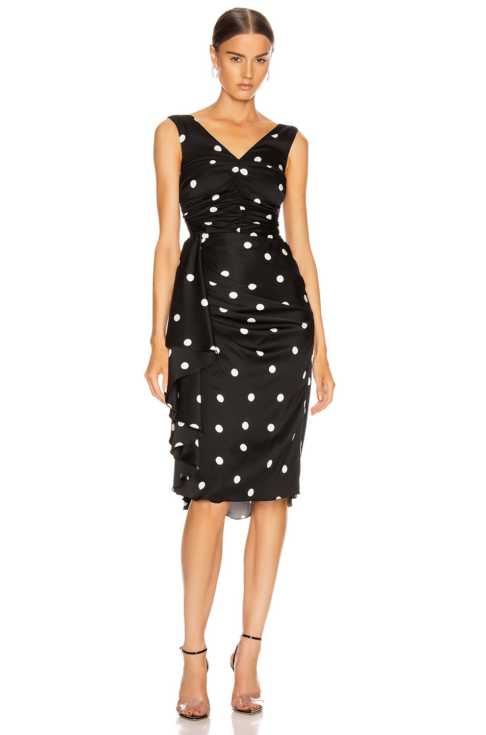 Image 1 of Dolce & Gabbana Polka Dots Dress in Black