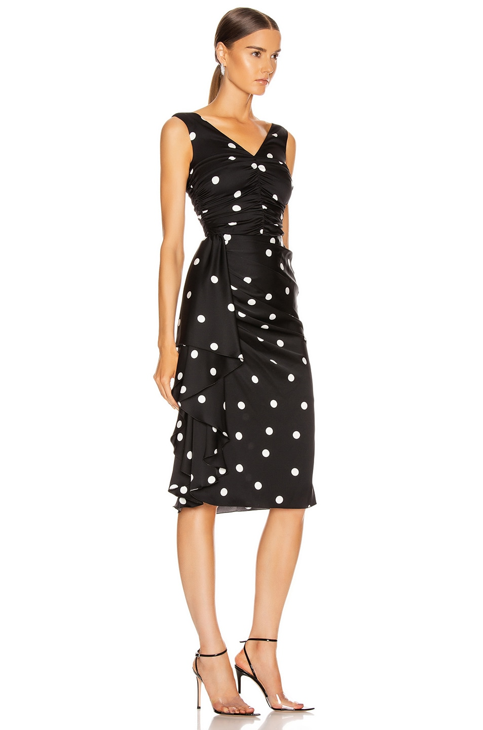 Image 2 of Dolce & Gabbana Polka Dots Dress in Black