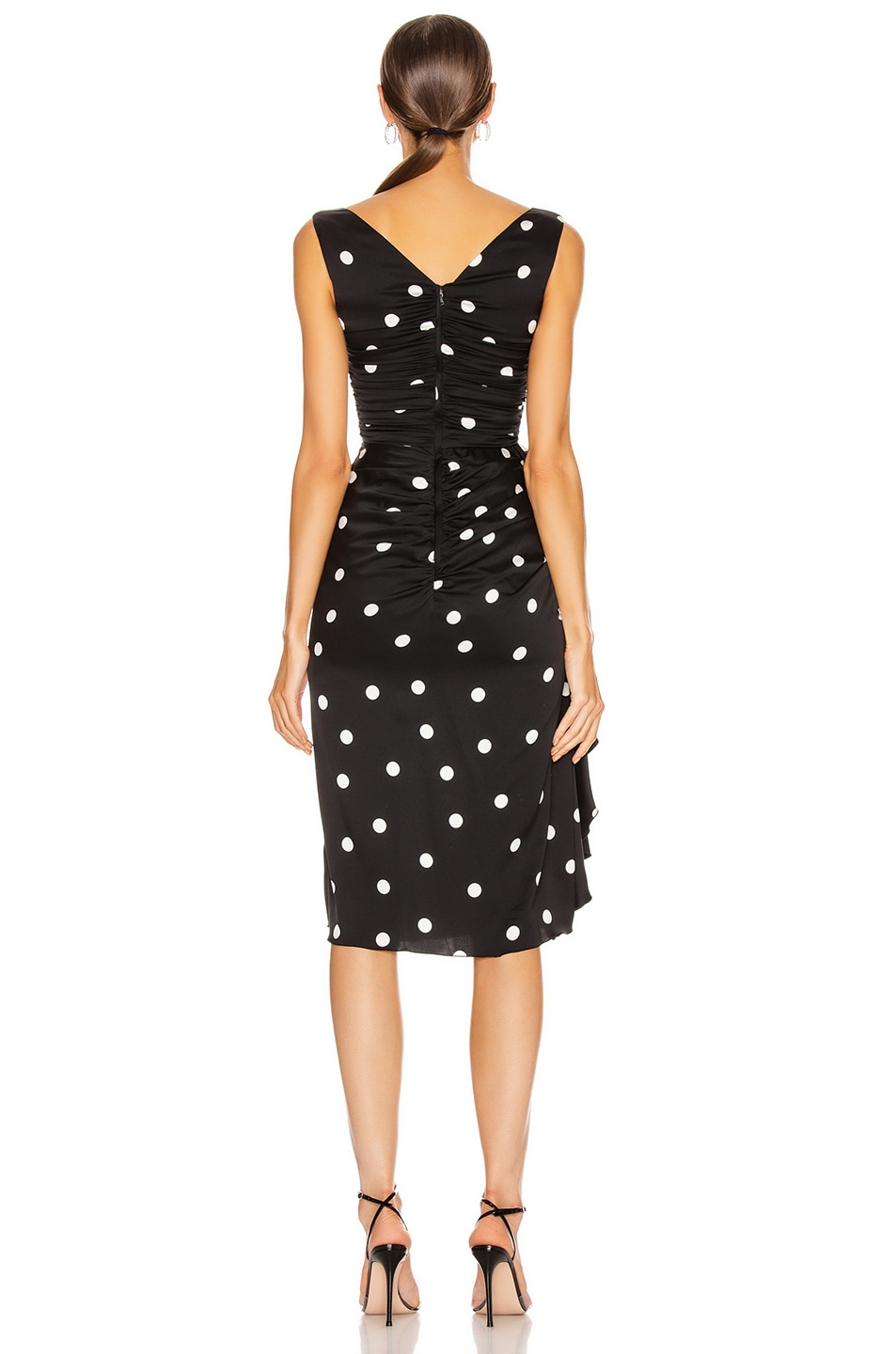 Image 4 of Dolce & Gabbana Polka Dots Dress in Black