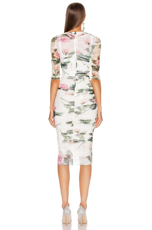 Image 3 of Dolce & Gabbana Floral Midi Dress in Rose