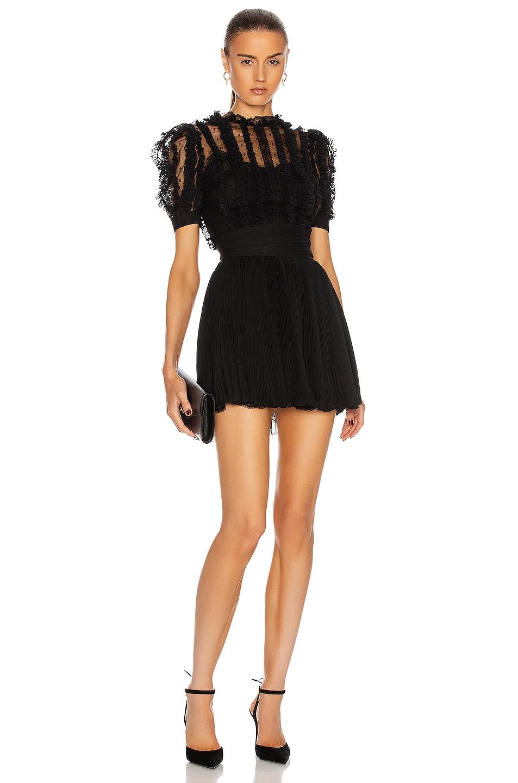 Image 1 of Dolce & Gabbana Short Sleeve Mini Dress in Black