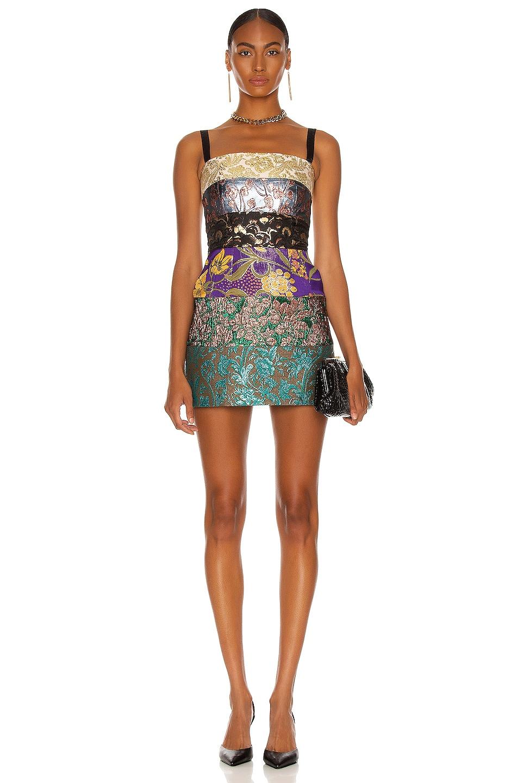 Image 1 of Dolce & Gabbana A-Line Mini Dress in Multi