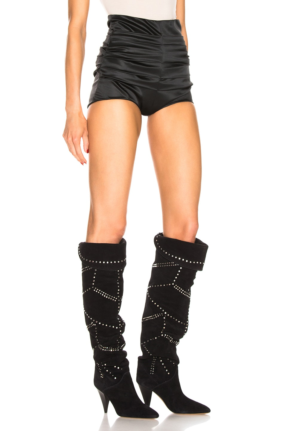 Image 2 of Dolce & Gabbana Ruched Short in Black