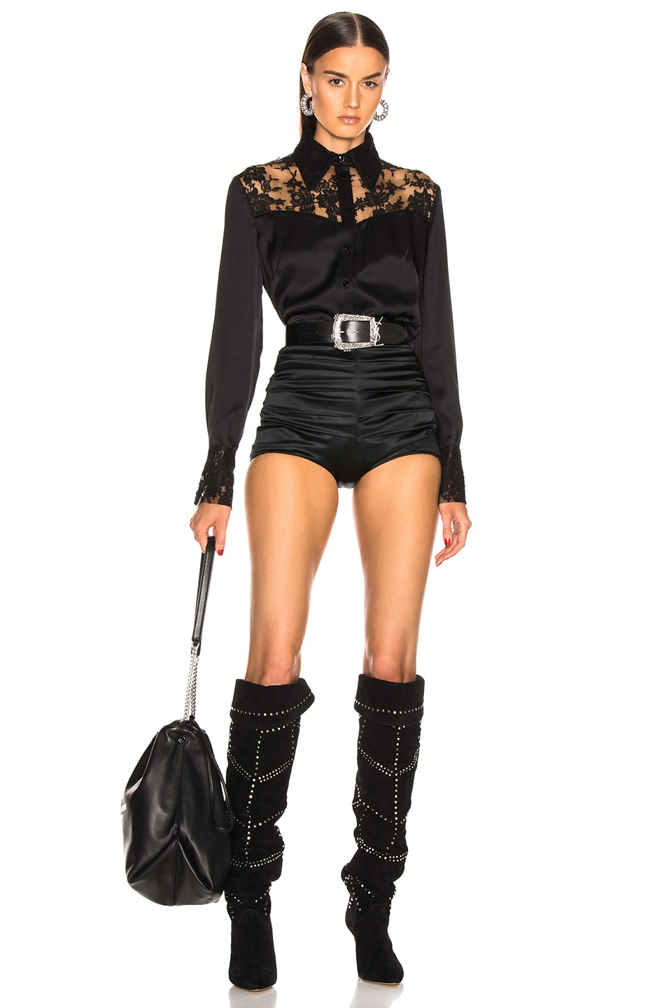 Image 4 of Dolce & Gabbana Ruched Short in Black