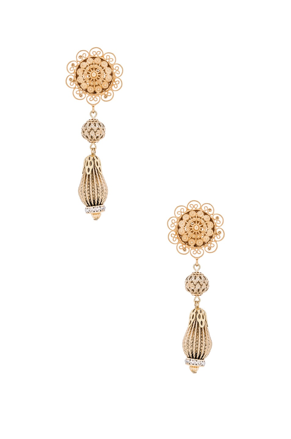 Image 1 of Dolce & Gabbana Chandelier Earrings in Gold