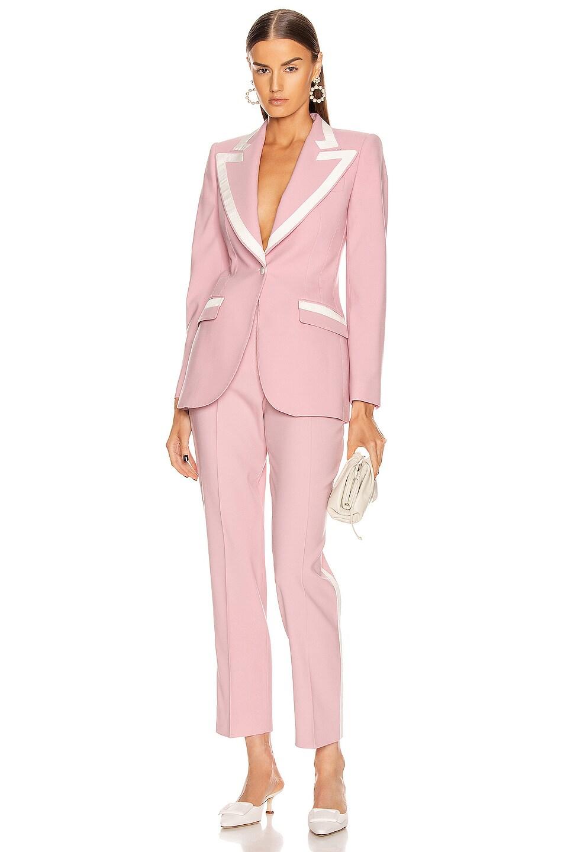 Image 4 of Dolce & Gabbana Tailored Blazer in Light Powder Rose
