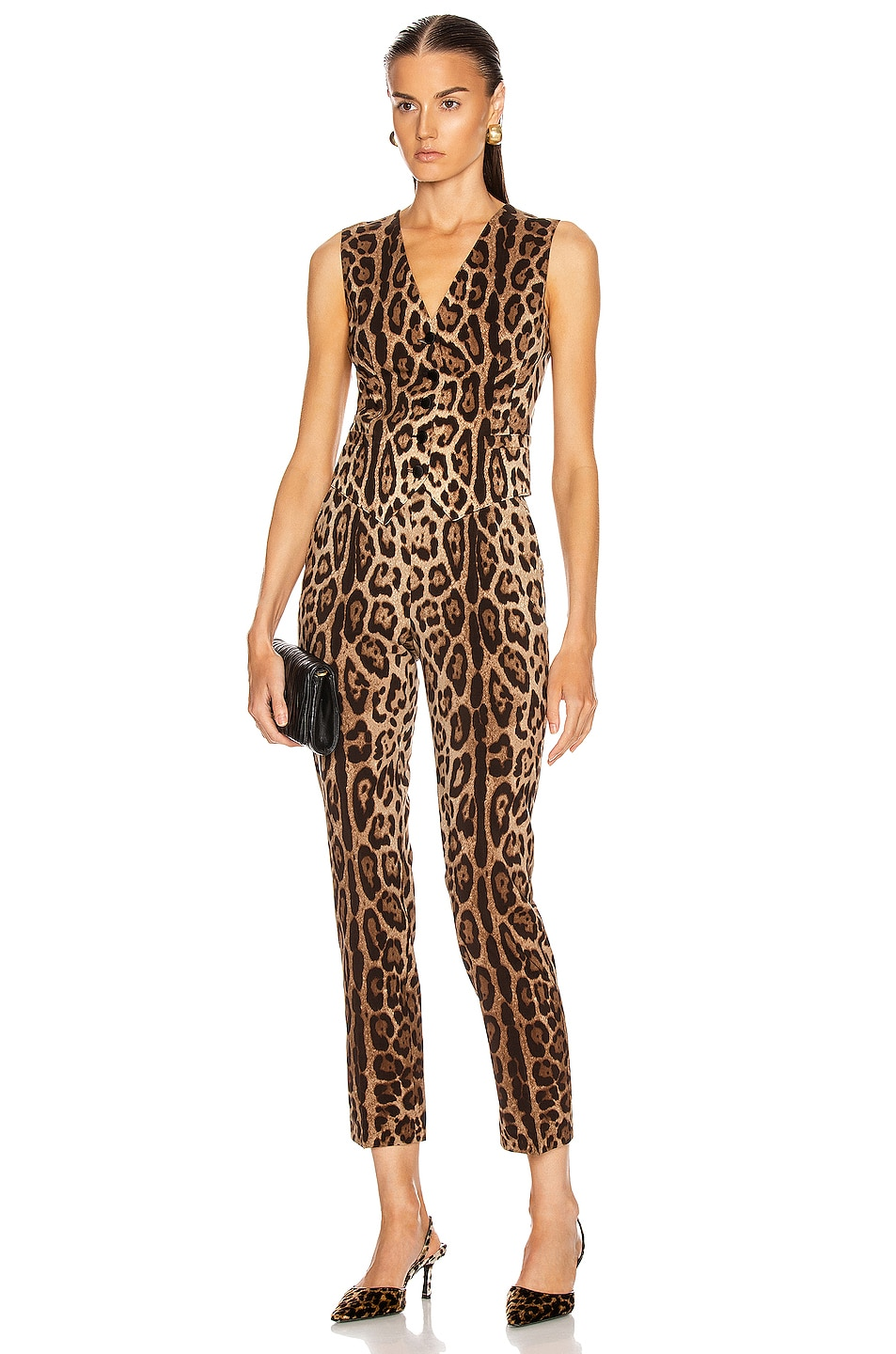 Image 4 of Dolce & Gabbana High Waisted Pant in Leopard