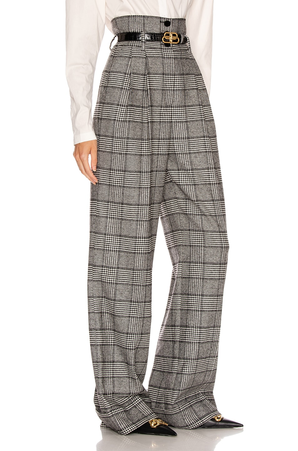Image 2 of Dolce & Gabbana Check High Waisted Pant in Grey