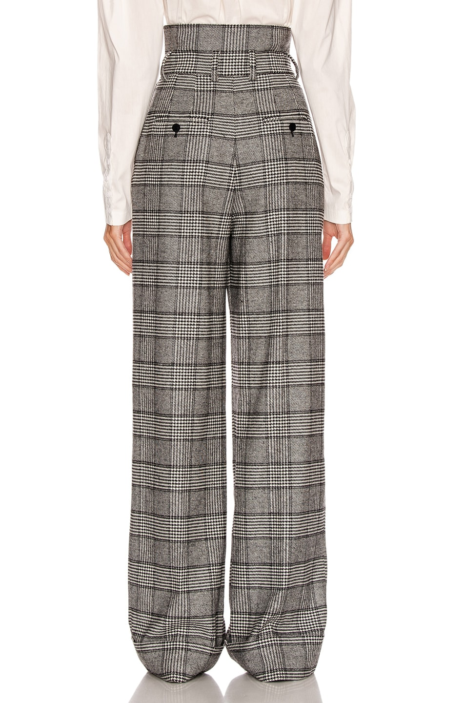 Image 3 of Dolce & Gabbana Check High Waisted Pant in Grey