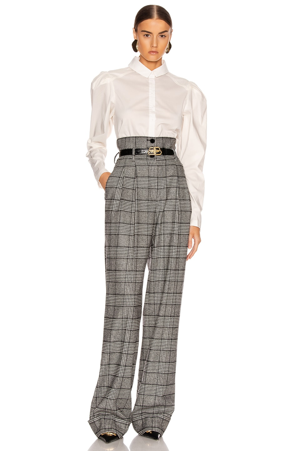 Image 4 of Dolce & Gabbana Check High Waisted Pant in Grey