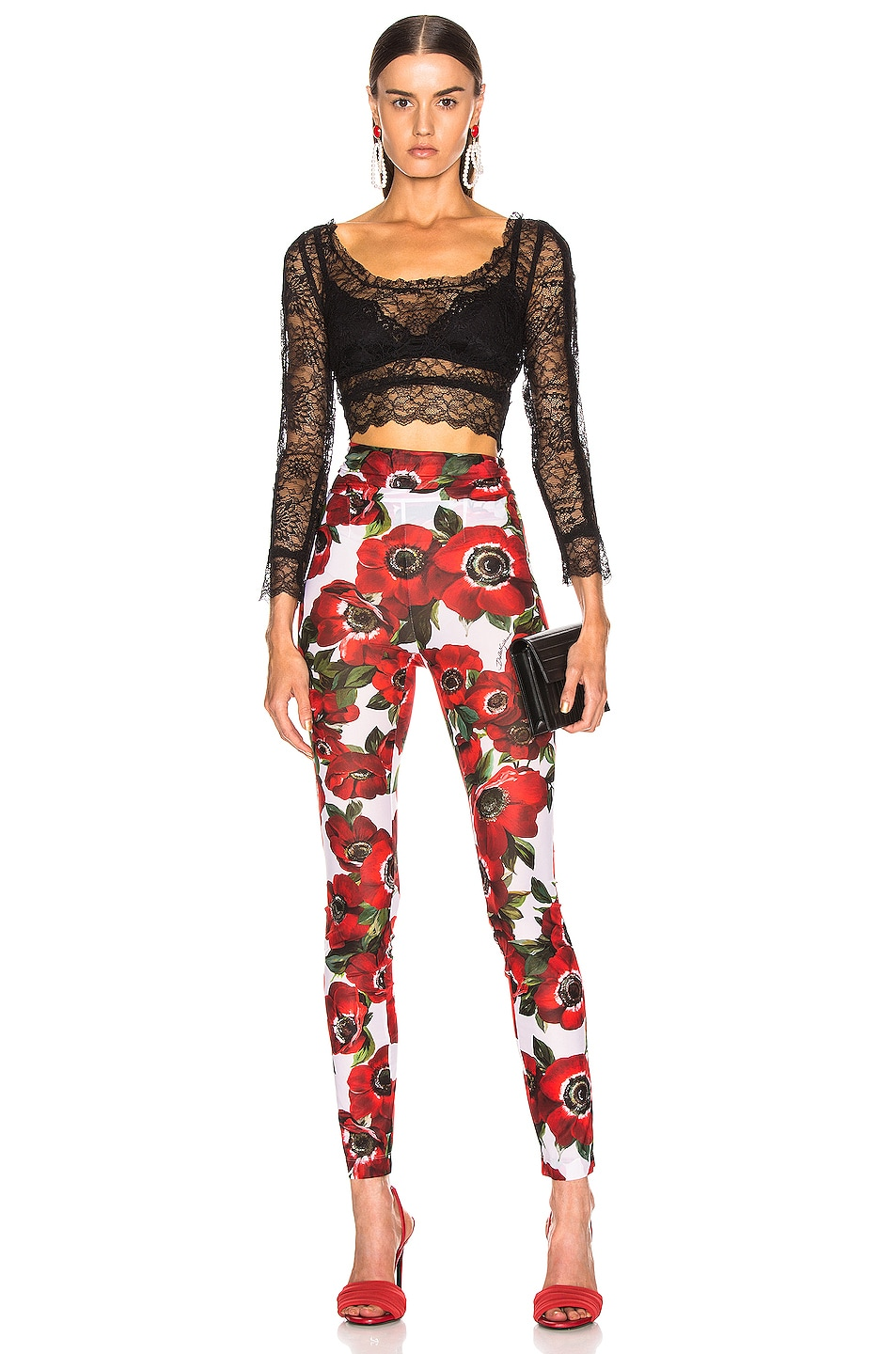 Image 4 of Dolce & Gabbana Floral Pant in Multi