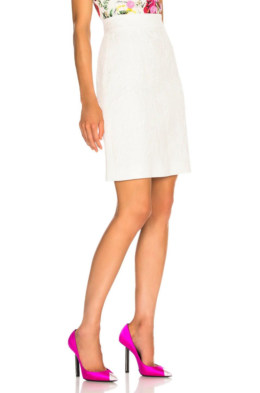 Image 2 of Dolce & Gabbana Jacquard Mini Skirt in White
