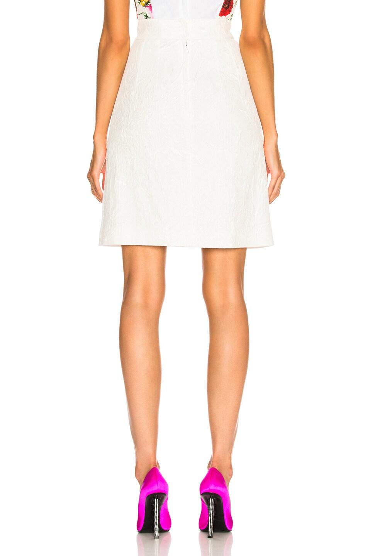 Image 3 of Dolce & Gabbana Jacquard Mini Skirt in White