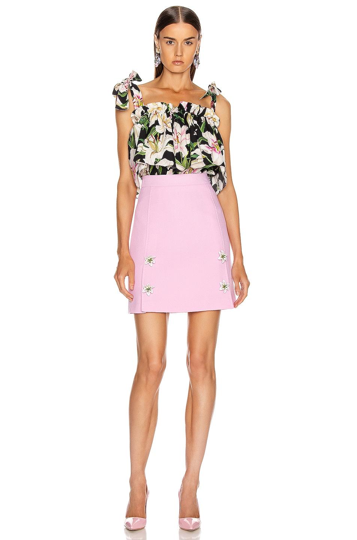 Image 4 of Dolce & Gabbana Embellished Rosa Skirt in Light Pink